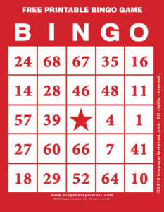 Free Printable Bingo Game