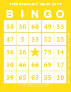 Free Printable Bingo Game 3