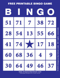 Free Printable Bingo Game 6