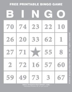 Free Printable Bingo Game 9