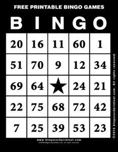 Free Printable Bingo Games 11