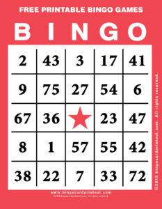 Free Printable Bingo Games 12