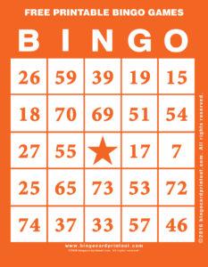 Free Printable Bingo Games 2
