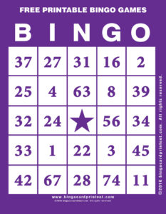 Free Printable Bingo Games 7