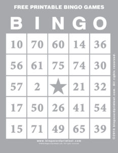 Free Printable Bingo Games 9