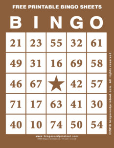 Free Printable Bingo Sheets 10