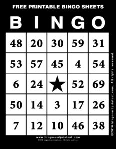 Free Printable Bingo Sheets 11