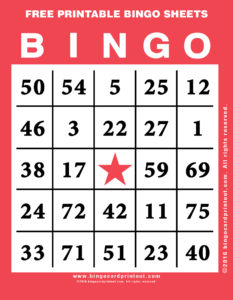 Free Printable Bingo Sheets 12
