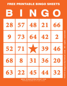 Free Printable Bingo Sheets 2
