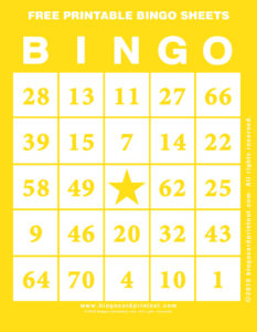 Free Printable Bingo Sheets 3