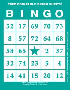 Free Printable Bingo Sheets 5