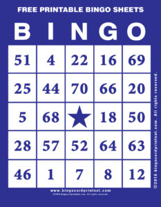 Free Printable Bingo Sheets 6