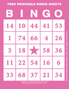 Free Printable Bingo Sheets 8