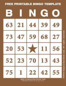 Free Printable Bingo Template 10