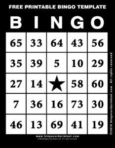 Free Printable Bingo Template 11