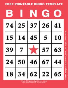 Free Printable Bingo Template 12