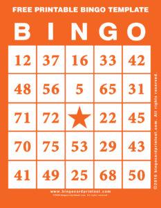 Free Printable Bingo Template 2