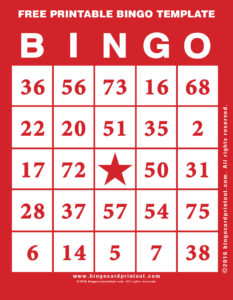 Free Printable Bingo Template