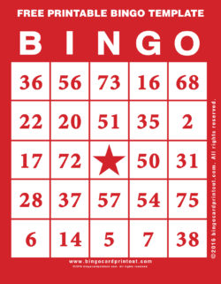 Free Printable Bingo Template
