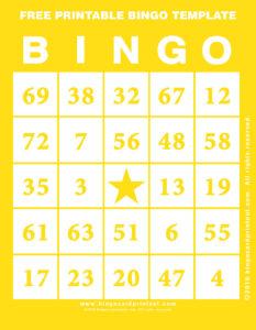 Free Printable Bingo Template 3
