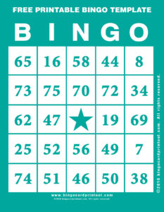 Free Printable Bingo Template 5