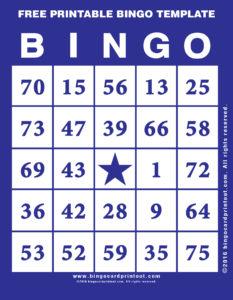 Free Printable Bingo Template 6