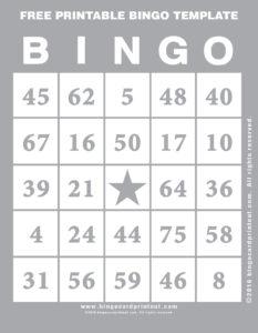 Free Printable Bingo Template 9