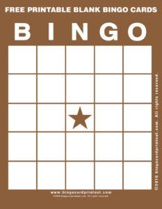 Free Printable Blank Bingo Cards 10