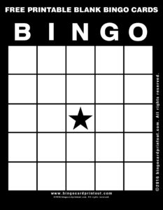 Free Printable Blank Bingo Cards 11