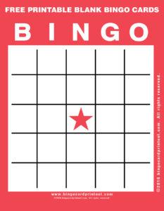 Free Printable Blank Bingo Cards 12