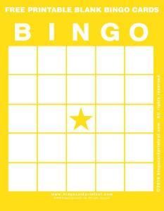 Free Printable Blank Bingo Cards 3