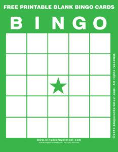 Free Printable Blank Bingo Cards 4