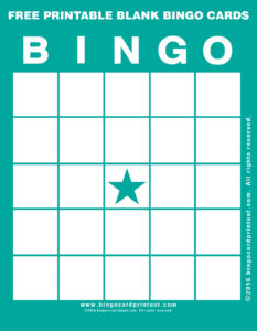Free Printable Blank Bingo Cards 5