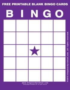 Free Printable Blank Bingo Cards 7