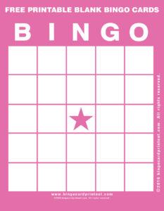 Free Printable Blank Bingo Cards 8