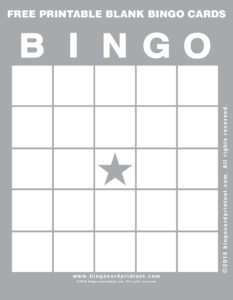 Free Printable Blank Bingo Cards 9
