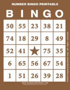 Number Bingo Printable 10