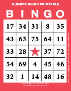 Number Bingo Printable 12