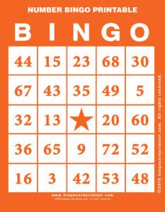 Number Bingo Printable 2