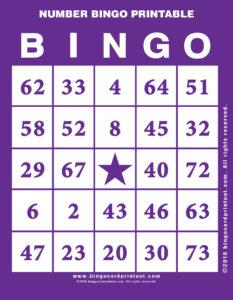 Number Bingo Printable 7