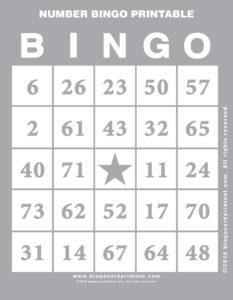 Number Bingo Printable 9