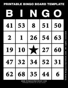 Printable Bingo Board Template 11