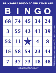 Printable Bingo Board Template 6