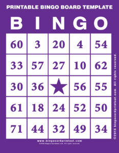 Printable Bingo Board Template 7