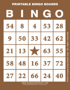 Printable Bingo Boards 10