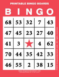 Printable Bingo Boards 12