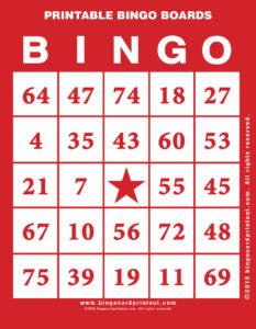 Printable Bingo Boards