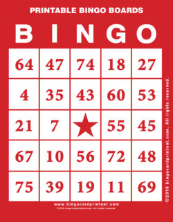 Printable Bingo Boards