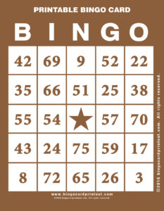 Printable Bingo Card 10