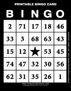 Printable Bingo Card 11